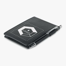 A7 notebooks with PU cover and pen