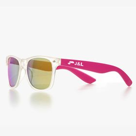 Classic-frame sunglasses with translucent front