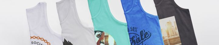 Personalised vest tops