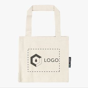Neutral® small shopping bags in organic Fairtrade cotton 300 g/m²