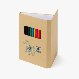 Colored pencils sets with drawing pad