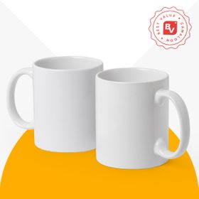 Best Value® tazas de cerámica blanca | 350 ml