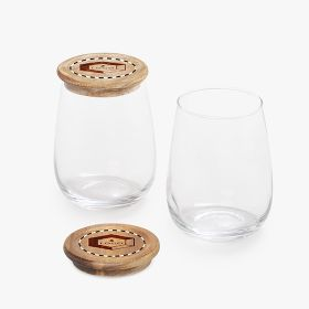 Set of brunch glasses