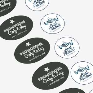 Ronde / ovale polyester stickers | Camaloon