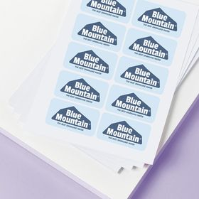Polyester stickervellen