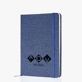 B6 hardcover notebooks with fabric effect (laser engraving)