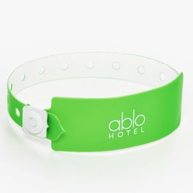 Fluorescent vinyl wristbands for bigger designs