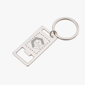 2 in 1 metal keyring with bottle opener