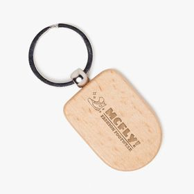 Wooden shield keyring