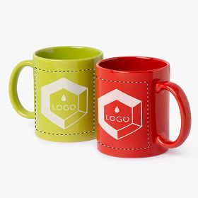 Coloured ceramic mugs | 350 ml
