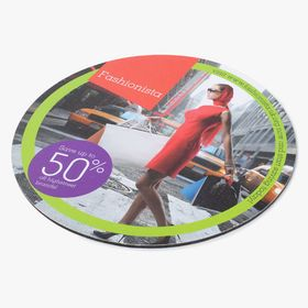 Hardcover circle mousepads Q-Mat®
