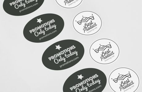Standard shaped polyester stickers | Camaloon