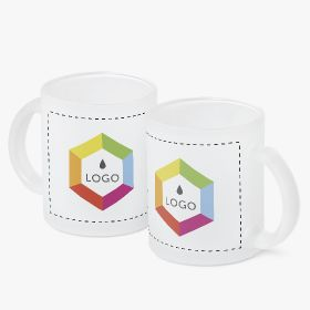 Frosty glass mugs | 300 ml