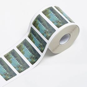 Plastic roll labels