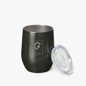 Insulated stainless steel premium travel cups with lid | 400 ml