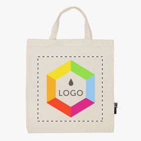 Neutral® tote bag in organic Fairtrade cotton and short handles 120 g/m²