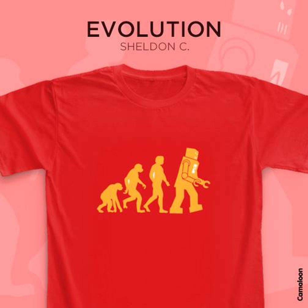 camisetas shledon cooper big bang theory evolution