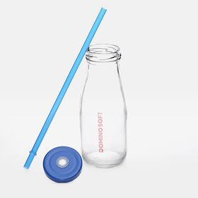 Glass bottles with straw | 320 ml