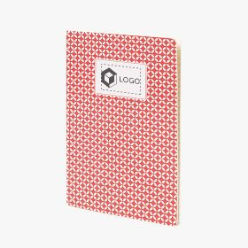 A5 stapled notebooks with geometric pattern cover