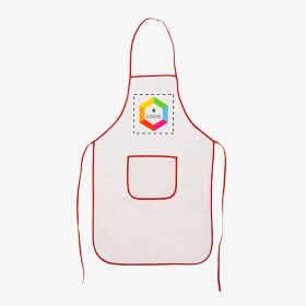 Cotton aprons with colored details